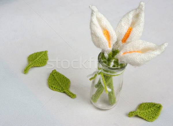 handmade product, lily flower knit, craft Stock photo © xuanhuongho