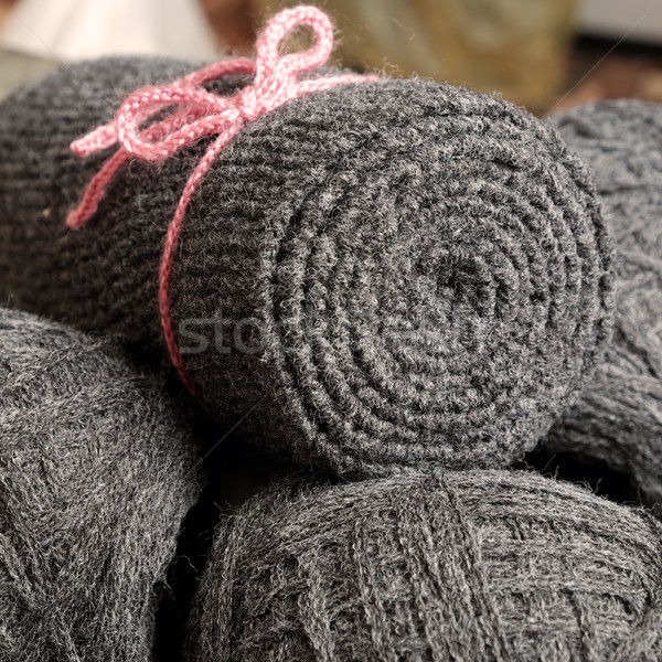 yarn scarf, accessory, wintertime, handmade gift Stock photo © xuanhuongho