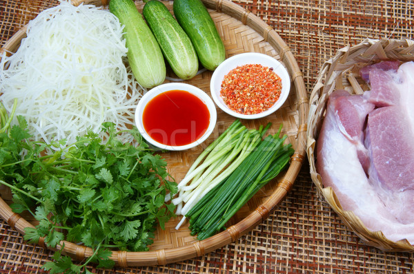 Vietnamese food, meatball Stock photo © xuanhuongho