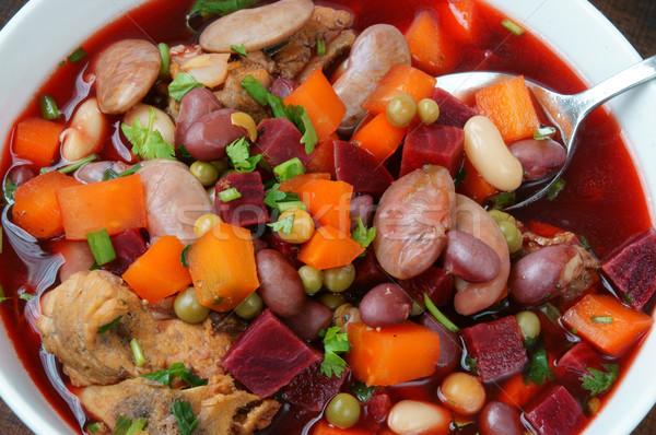 Comida sopa de legumes fresco ingredientes batata verde Foto stock © xuanhuongho