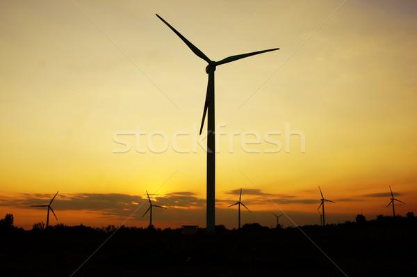 Green energy supply, wind turbine Stock photo © xuanhuongho