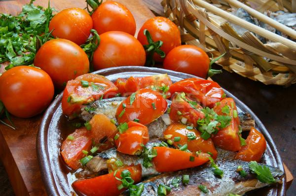 Foto stock: Comida · peixe · tomates · popular · prato · Vietnã
