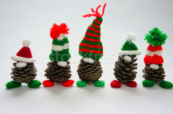 Christmas pine gnome, Xmas pinecone, gift Stock photo © xuanhuongho