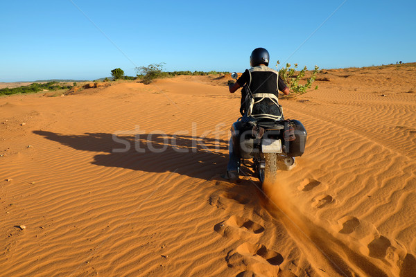 man, travel, adventure nature, wheel tracks Stock photo © xuanhuongho