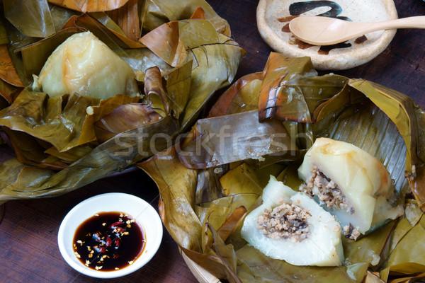 Сток-фото: продовольствие · пирамида · риса · свинина