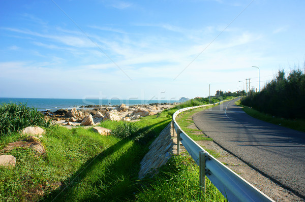 scene, Viet Nam, coastal, beach, road, Lagi Stock photo © xuanhuongho