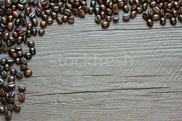 Grão de café textura marrom café feijões Foto stock © xuanhuongho