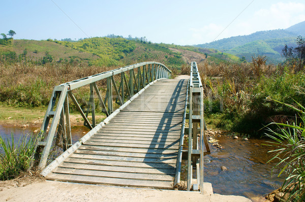 bridge cross stream, Vietnamese countryside Stock photo © xuanhuongho