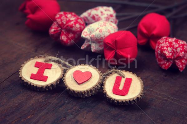 Valentine background, I love you message Stock photo © xuanhuongho
