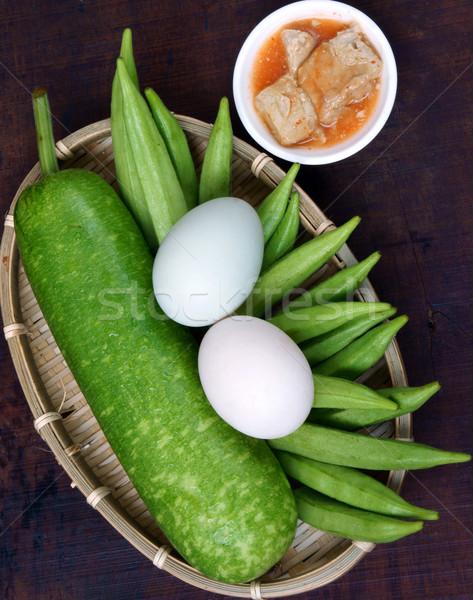 Alimentare vegetariano dieta menu pasto bottiglia Foto d'archivio © xuanhuongho