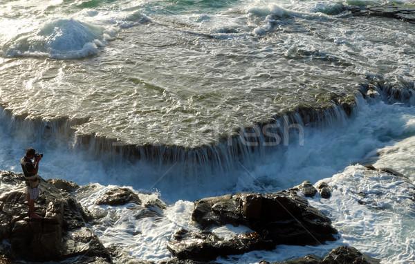 Parque paisaje maravilloso marina olas grande Foto stock © xuanhuongho