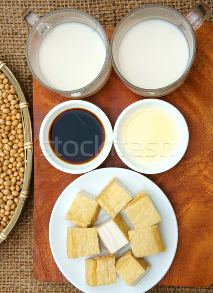 Produto soja nome família rico proteína Foto stock © xuanhuongho