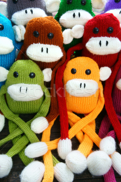 Feito à mão macaco feliz ano novo 2016 engraçado animal Foto stock © xuanhuongho