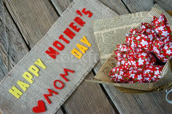 Feliz dia das mães amor mamãe mensagem idéia colorido Foto stock © xuanhuongho
