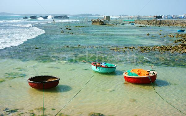 Güzel manzara Vietnam plaj güzel Stok fotoğraf © xuanhuongho