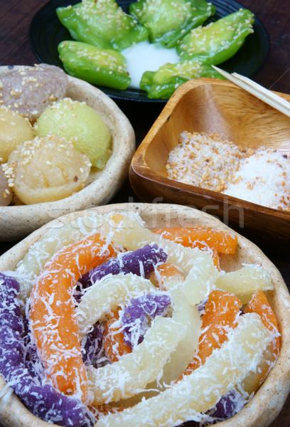 Comida de rua doce bolo popular Vietnã Foto stock © xuanhuongho