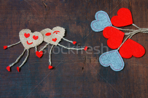 Walentynki dzień symbol miłości czerwony serca Zdjęcia stock © xuanhuongho
