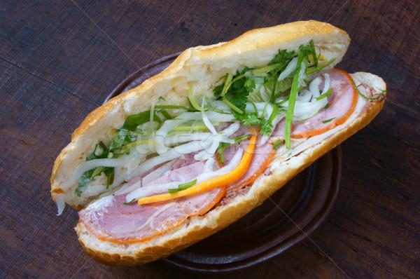Vietnamese food, banh mi  Stock photo © xuanhuongho