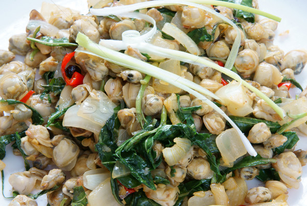 Vietnamese food, mussel, rice paper, vietnam eating Stock photo © xuanhuongho