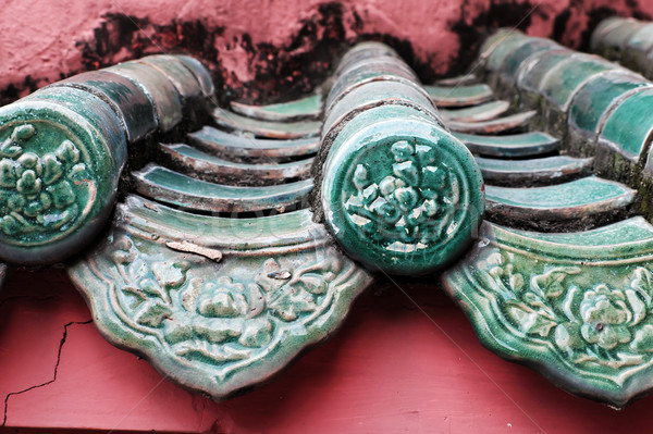 Инь-Ян плитка впечатление блестящий украшение крыши Сток-фото © xuanhuongho