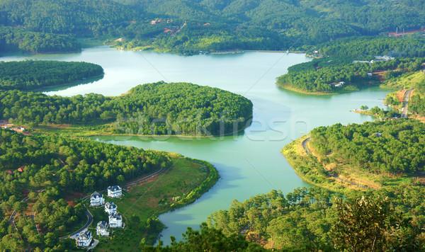 Verbazingwekkend mooie panorama reizen Vietnam meer Stockfoto © xuanhuongho