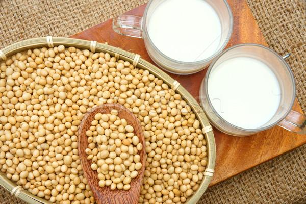 Soybean, soymilk, nutrition beverage Stock photo © xuanhuongho