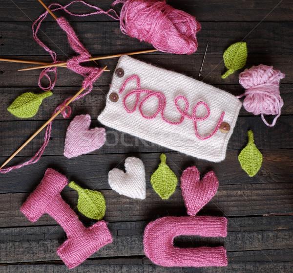 valentine background, heart, Valentines day, gift, handmade Stock photo © xuanhuongho
