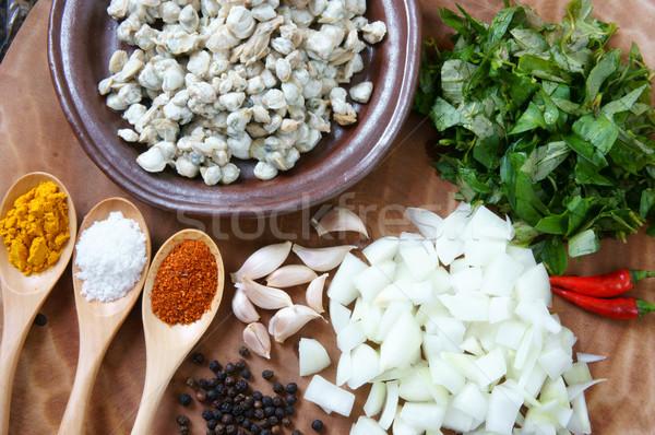 Voedsel rijst papier Vietnam eten snack Stockfoto © xuanhuongho