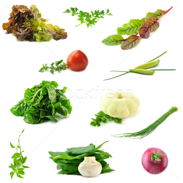 Collection of fresh vegetables necessary on the each kitchen Stock photo © xura