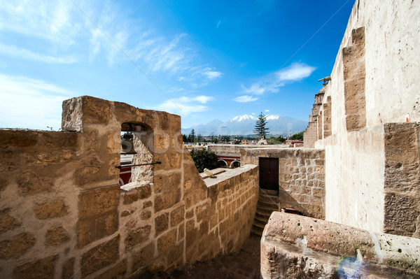 Mosteiro importante religioso Peru vulcão Foto stock © xura