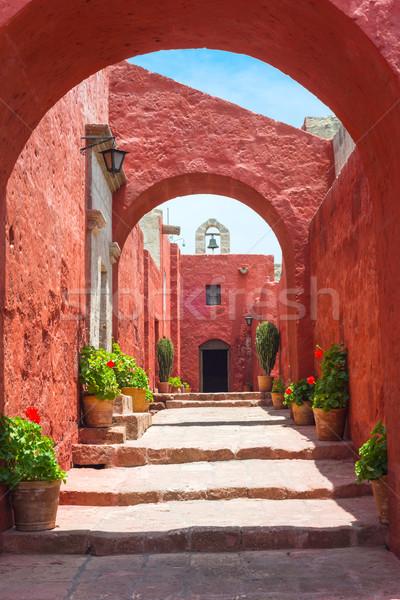 Mosteiro importante religioso janela igreja Foto stock © xura