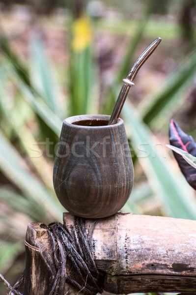 パラグアイ メイト カップ 茶 わら ストックフォト © xura
