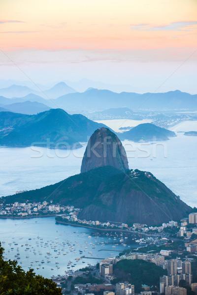 Rio de Janeiro kilátás hegy égbolt természet tájkép Stock fotó © xura