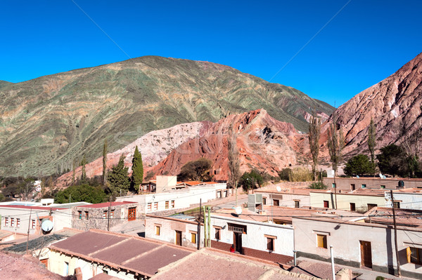 Purmamarca, Quebrada de Humahuaca, Hill of Seven Colours, Andes, Stock photo © xura
