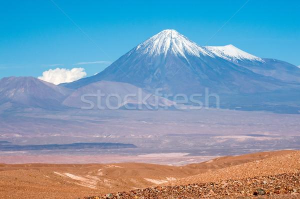 Şili batı çöl doğa dağ Stok fotoğraf © xura