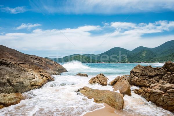 Praia Brasil Rio de Janeiro céu paisagem oceano Foto stock © xura