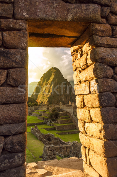 Stock photo: Machu Picchu, Peruvian Andes, Sacred Valley