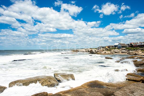 пляж популярный туристических место Уругвай строительство Сток-фото © xura