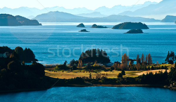 Lac Argentine panoramique point arbre nature Photo stock © xura
