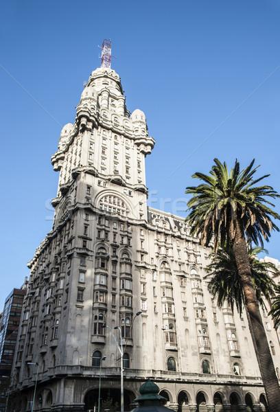 Saray Montevideo ikon Uruguay kare şehir Stok fotoğraf © xura