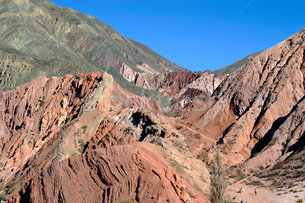 Colorful valley of Quebrada de Humahuaca, central Andes Altiplan Stock photo © xura