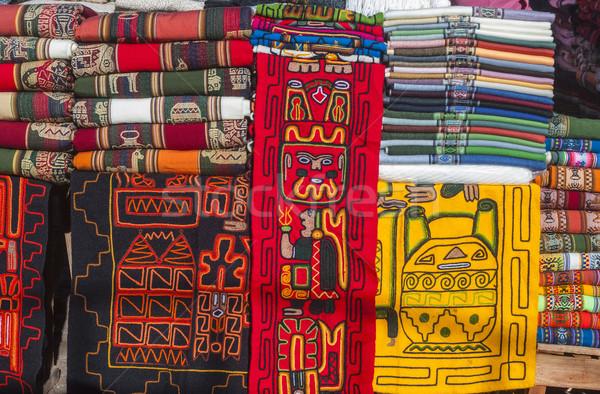 Indian markt Argentinië decoratie Bolivia Peru Stockfoto © xura