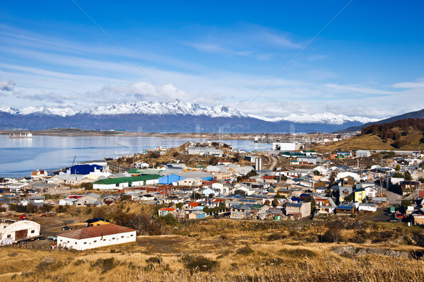 Ushuaia. Colourful houses in the Patagonian city, Argentina Stock photo © xura