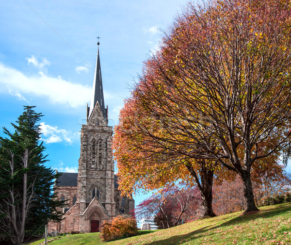 Cathedral of the city of Bariloche, Argentina Stock photo © xura