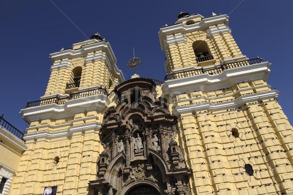 San Francisco monastery, central Lima, Peru Stock photo © xura