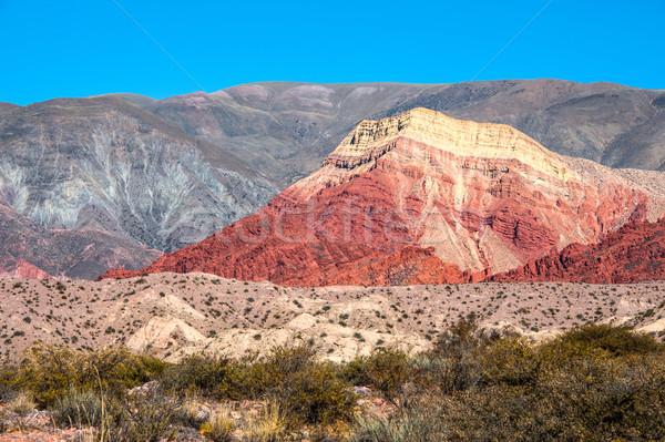 Colorido vale central natureza rocha indústria Foto stock © xura