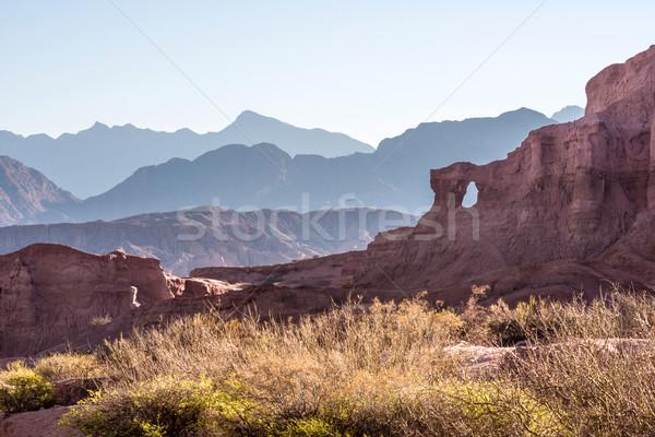 Аргентина закат природы пейзаж пустыне красоту Сток-фото © xura