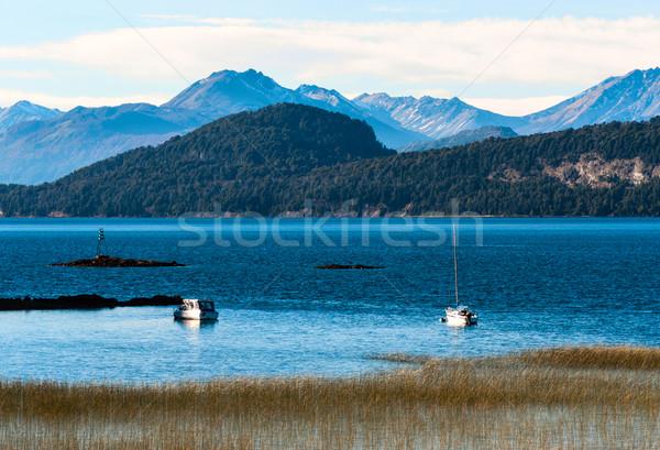 Lago Argentina natureza paisagem viajar outono Foto stock © xura