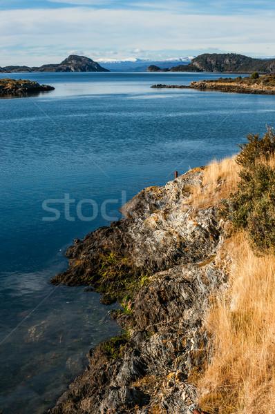 Son ad yer karayolu yol Alaska Stok fotoğraf © xura