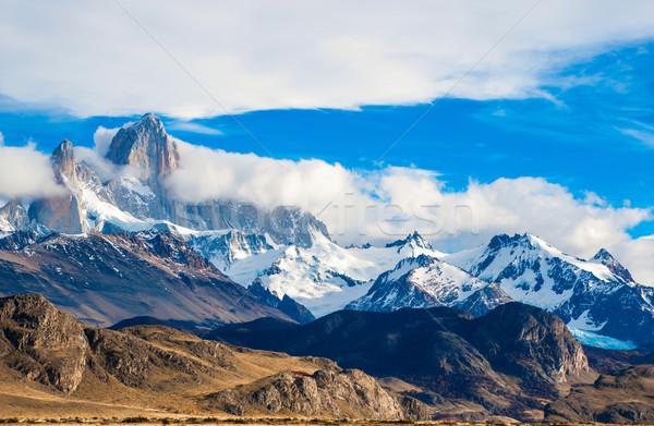 Montanha parque Argentina céu neve azul Foto stock © xura